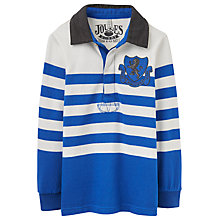 Buy Joules Boys' Winner Block Stripe Rugby Shirt, Bold Blue/White Online at johnlewis.com