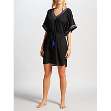 Buy John Lewis Beaded V-Neck Kaftan, Black Online at johnlewis.com