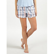 Buy John Lewis Lilian Check Shorts, Ivory/Blue Online at johnlewis.com