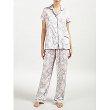 Buy John Lewis Martha Floral Short Sleeve Pyjama Set, Melon/Navy Online at johnlewis.com