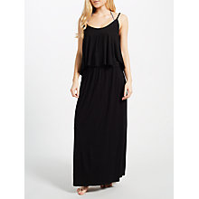 Buy John Lewis Tiered Maxi Dress, Black Online at johnlewis.com