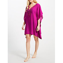 Buy John Lewis Tangier Crochet Detail Kaftan, Indian Berry Online at johnlewis.com