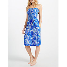 Buy John Lewis Diamond Geo Jersey Bandeau Dress, Cobalt Online at johnlewis.com