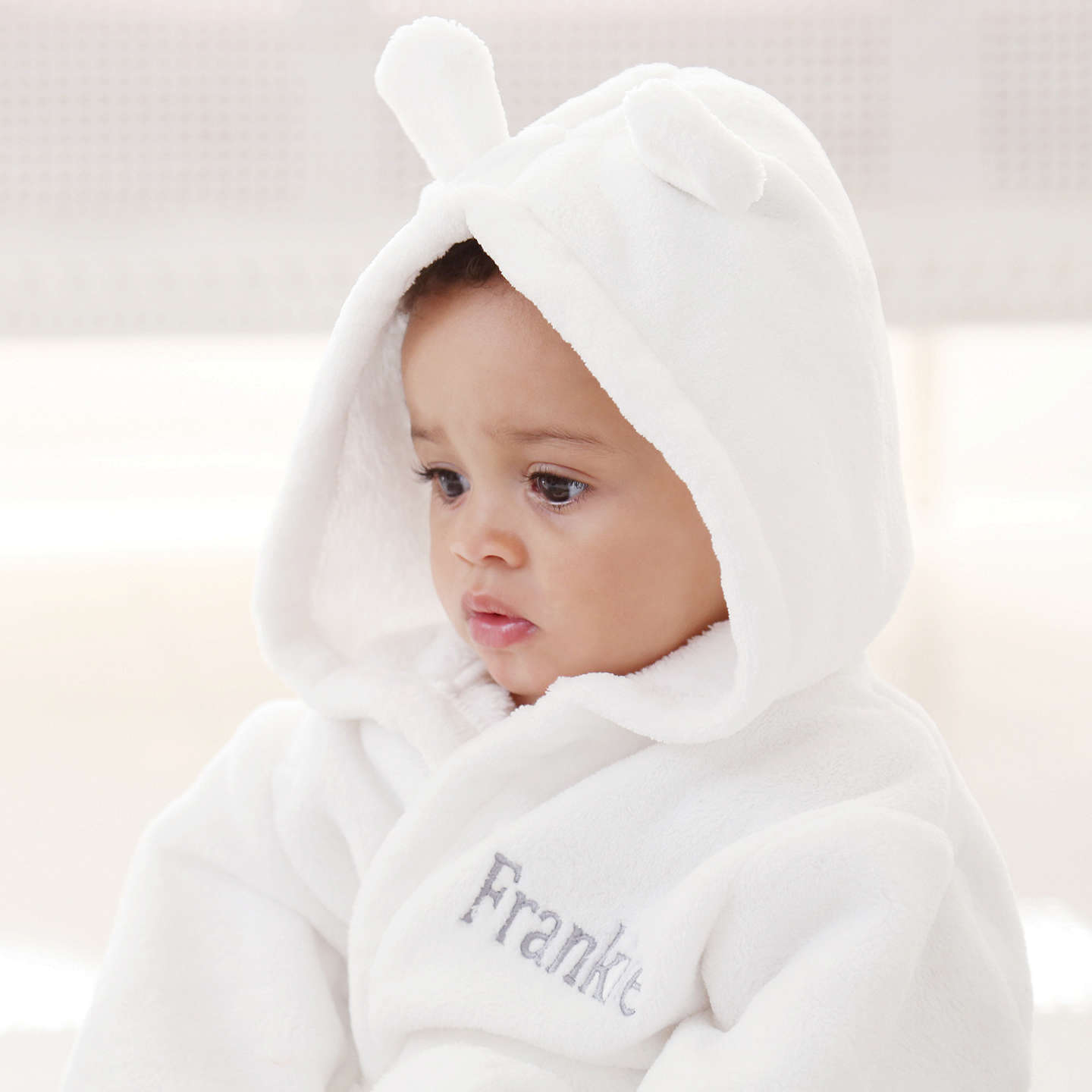 BuyMy 1st Years Baby Personalised Fleece Robe, Ivory, 0-6 months Online at johnlewis.com