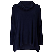 Buy Phase Eight Rhona Roll Neck Jumper, Navy Online at johnlewis.com