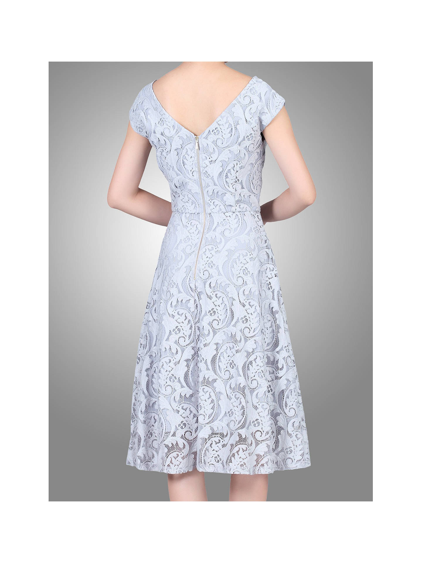 Buy Jolie Moi 50s Lace Fit And Flare Dress, Grey, 8 Online at johnlewis.com