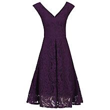 Buy Jolie Moi 50s Lace Fit And Flare Dress, Dark Purple Online at johnlewis.com