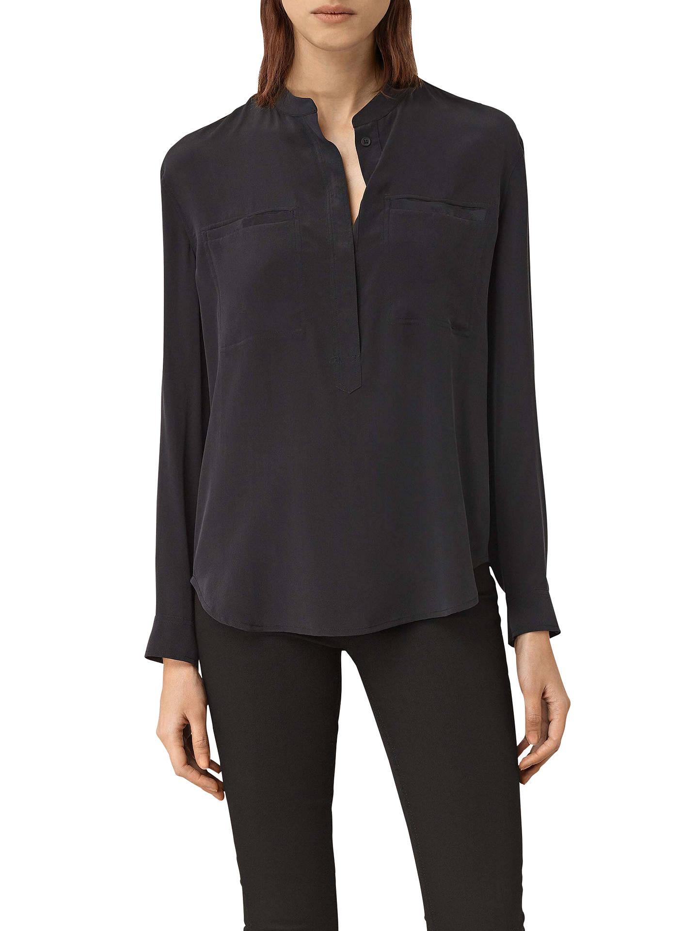 96c89e38 All Saints Silk Shirt | Top Mode Depot