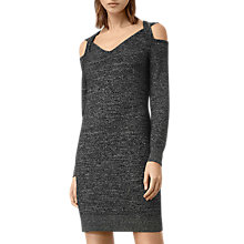 Buy AllSaints Neri Twist Dress, Black Online at johnlewis.com
