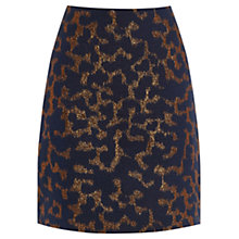 Buy Warehouse Disco Leopard Jacquard Skirt, Blue Online at johnlewis.com