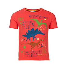 Buy John Lewis Boys' Cuba Dinosaur T-Shirt, Red Online at johnlewis.com