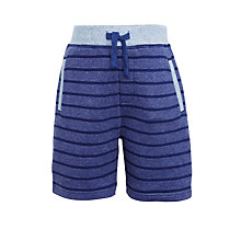 Buy John Lewis Boys' Double Faced Jersey Shorts, Blue Online at johnlewis.com