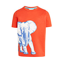 Buy John Lewis Boys' Elephant T-Shirt, Orange Online at johnlewis.com
