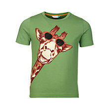 Buy John Lewis Boys' Giraffe Graphic T-Shirt, Green Online at johnlewis.com