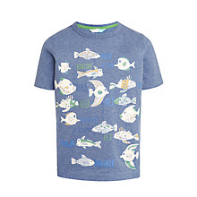 Buy John Lewis Boys' Friendly Fish Glow In The Dark T-Shirt, Blue Online at johnlewis.com