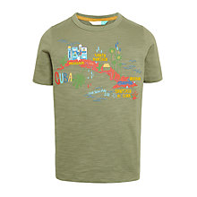 Buy John Lewis Boys' Cuba Map T-Shirt, Green Online at johnlewis.com