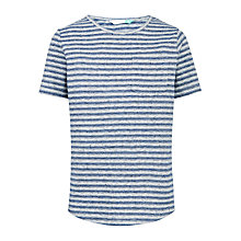 Buy John Lewis Boys' Striped T-Shirt, Navy Online at johnlewis.com