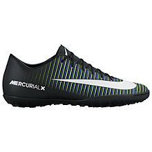 Buy Nike MercurialX Victory VI Men's Turf Football Boots, Black/Multi Online at johnlewis.com