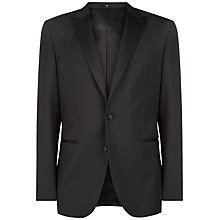Buy Jaeger Wool Mohair Regular Fit Dinner Suit Jacket, Black Online at johnlewis.com