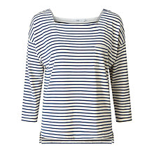 Buy Collection WEEKEND by John Lewis Square Neck Striped Top Online at johnlewis.com