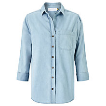 Buy Collection WEEKEND by John Lewis Florence Easy Fit Shirt, Pale Blue Online at johnlewis.com