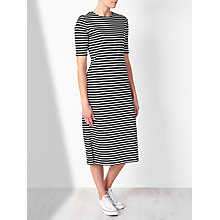 Buy Collection WEEKEND by John Lewis Stripe Jersey Dress, Black/White Online at johnlewis.com