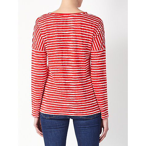 Buy Collection WEEKEND by John Lewis Stripe Drop Sleeve Linen Top Online at johnlewis.com