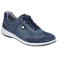 Buy John Lewis Designed for Comfort Elya Lace Up Trainers, Navy Online at johnlewis.com
