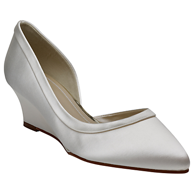 Rainbow Club Edna Wedge Heel Court Shoes, Ivory