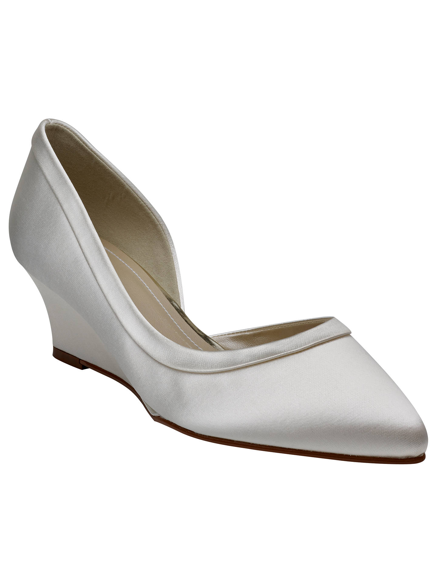 Buy Rainbow Club Edna Wedge Heel Court Shoes, Ivory, 6.5 Online at johnlewis.com