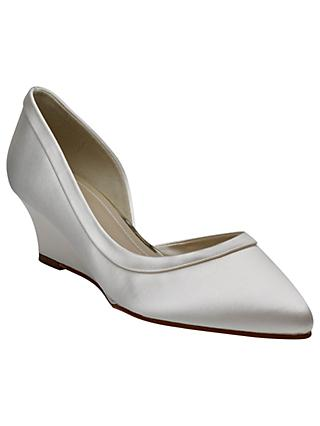 Rainbow Club Edna Wedge Heel Court Shoes, Ivory