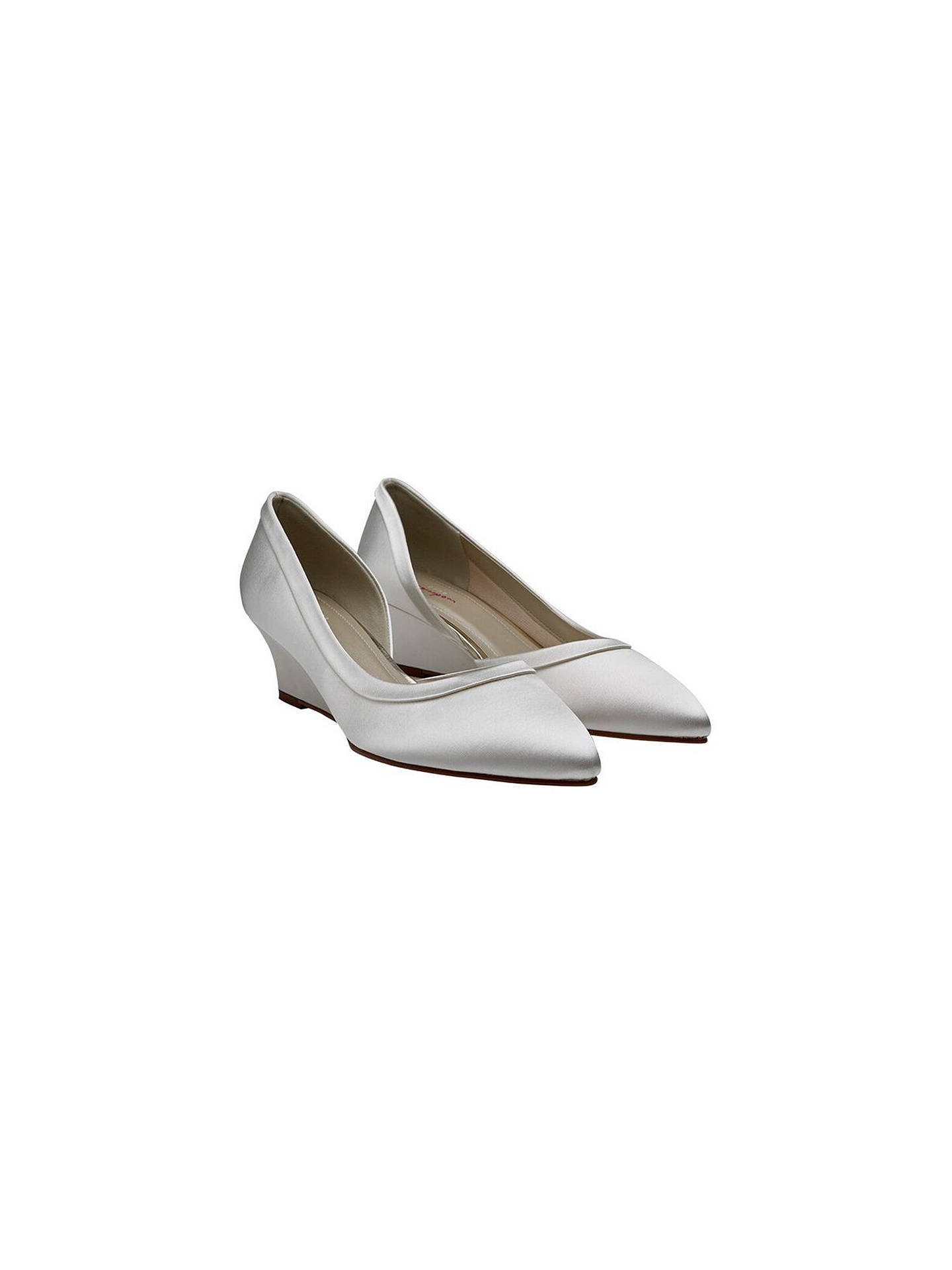 Buy Rainbow Club Edna Wedge Heel Court Shoes, Ivory, 7.5 Online at johnlewis.com