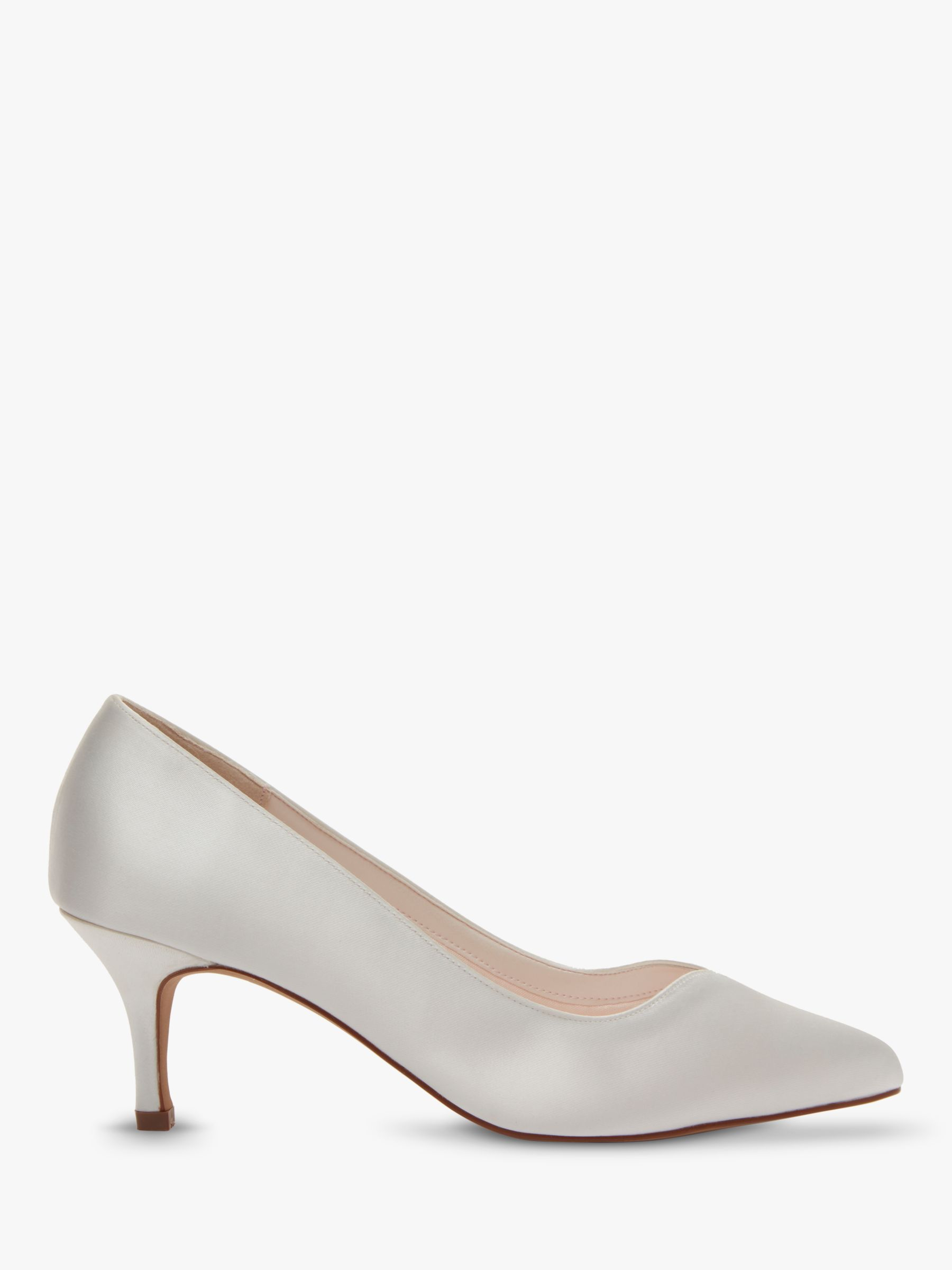 Rainbow Club Rainbow Club Elizabeth Stiletto Heeled Court Shoes, Ivory