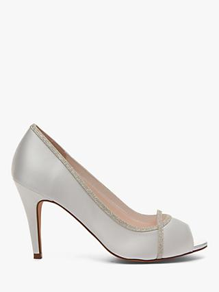 Rainbow Club Chelsey Peep Toe Stiletto Sandals, Ivory
