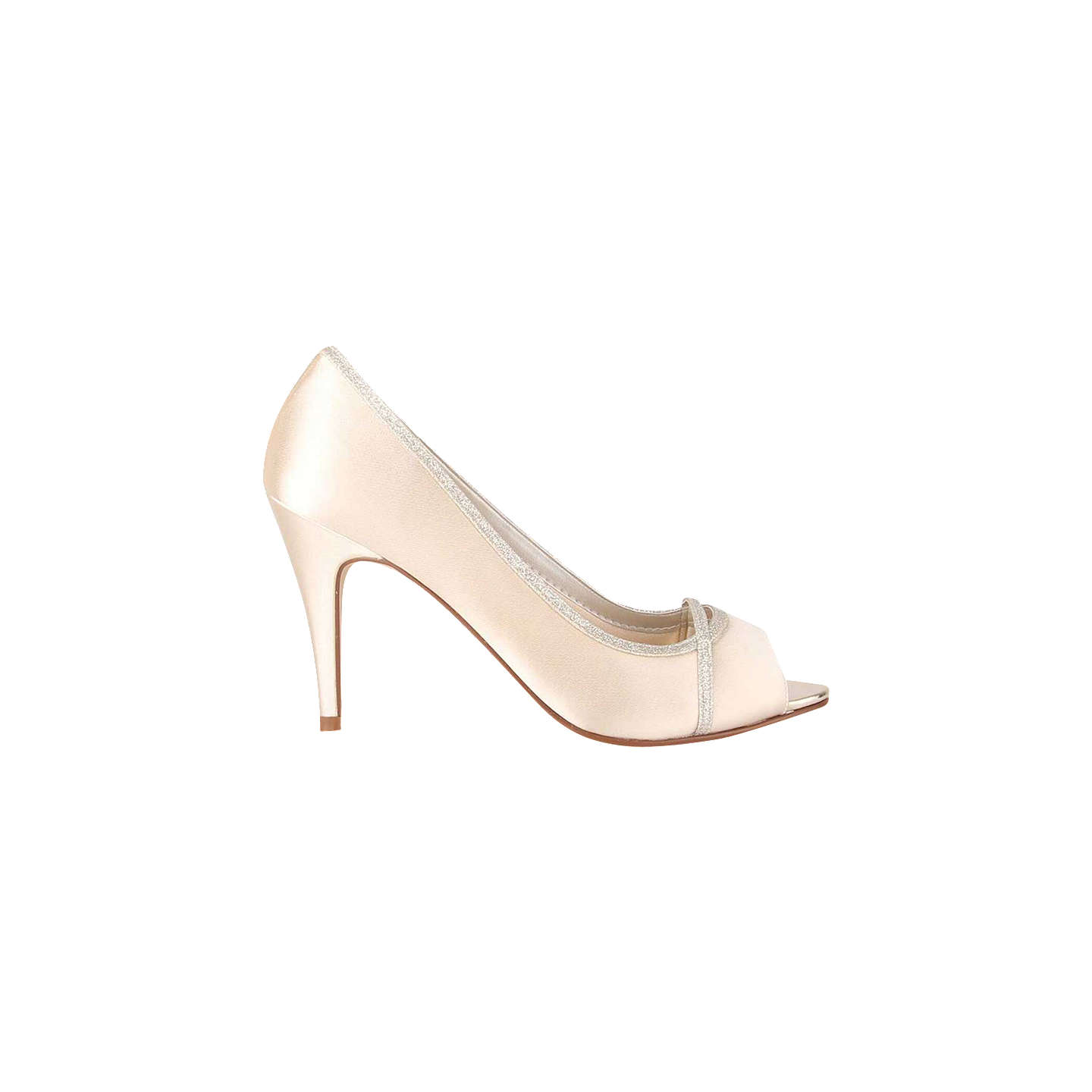 BuyRainbow Club Chelsey Peep Toe Stiletto Sandals, Ivory, 3 Online at johnlewis.com