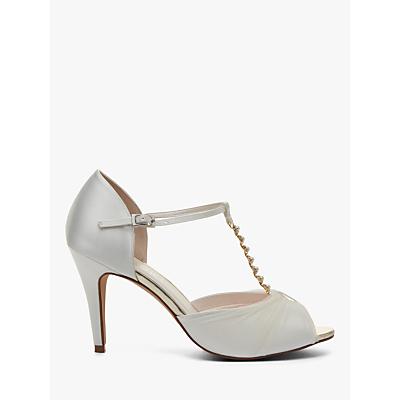 Rainbow Club Adrianna Satin and Tulle Stiletto Heel Sandals, Ivory
