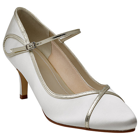 Buy Rainbow Club Dorothy Mary Jane Court Shoes, Ivory Online at johnlewis.com