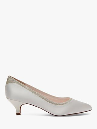 Rainbow Club Bobbie Cone Heeled Court Shoes, Ivory
