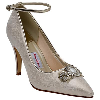 Rainbow Club Ceri Embellished Stiletto Court Shoes, Champagne