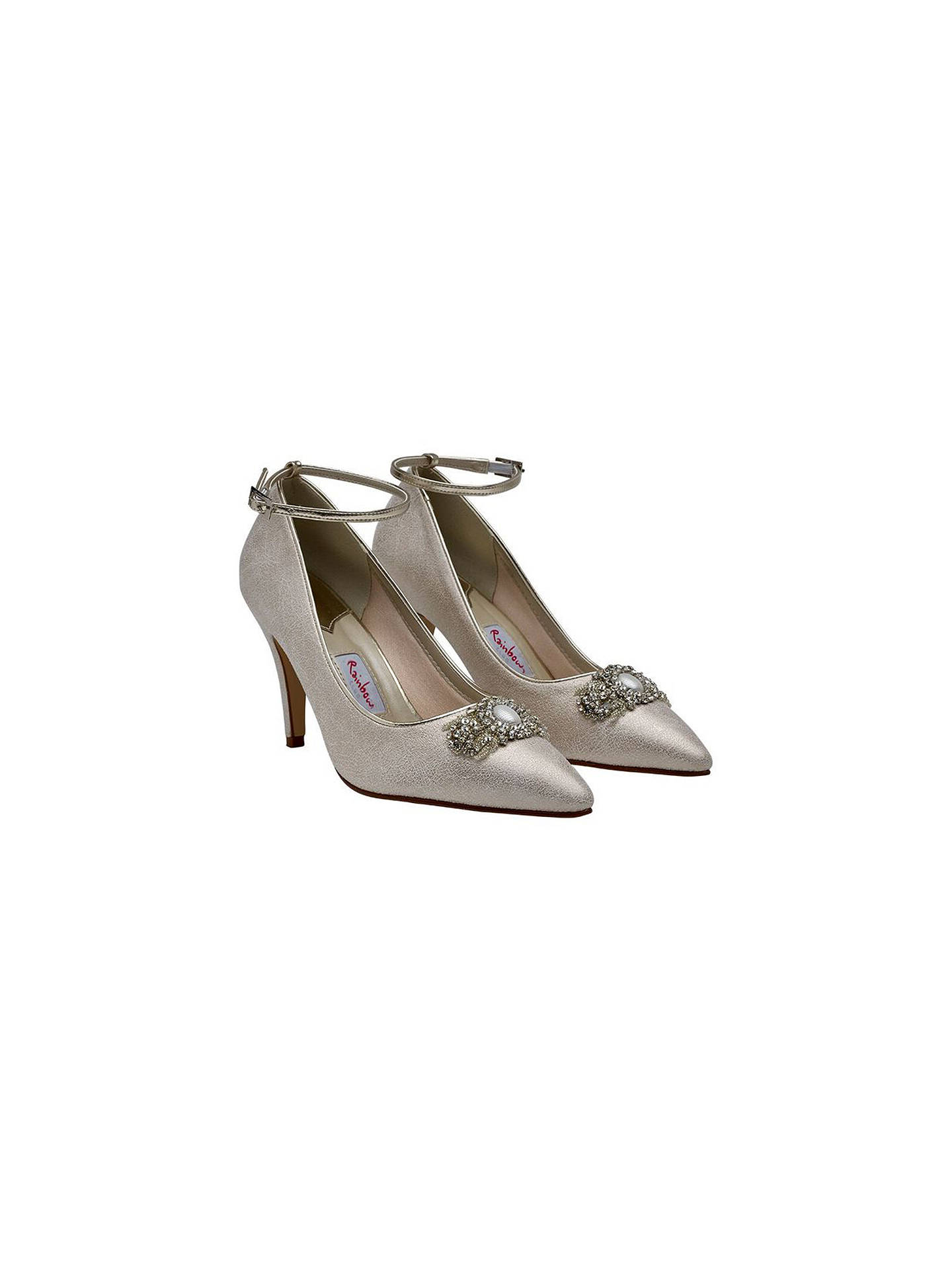 Buy Rainbow Club Ceri Embellished Stiletto Court Shoes, Champagne, 3 Online at johnlewis.com