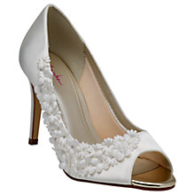 Buy Rainbow Club Amelia Satin Stiletto Heel Court Shoes, Ivory Online at johnlewis.com