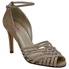 Buy Rainbow Club Constance Woven Stiletto Sandals, Metallic Online at johnlewis.com
