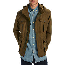 Buy Scotch & Soda 6 Pocket Military Jacket, Military Green Online at johnlewis.com
