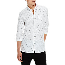 Buy Scotch & Soda All Over Print Slim Fit Shirt, White Online at johnlewis.com