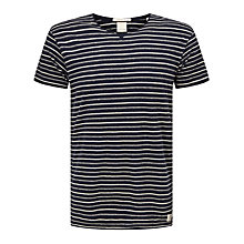 Buy Scotch & Soda Home Alone T-Shirt, Navy/White Stripe Online at johnlewis.com