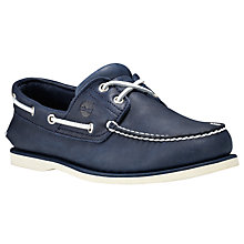 Buy Timberland Nubuck Leather Boat Shoes, Blue Online at johnlewis.com
