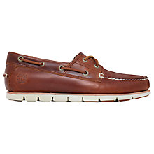 Buy Timberland Leather Boat Shoes, Brown Online at johnlewis.com