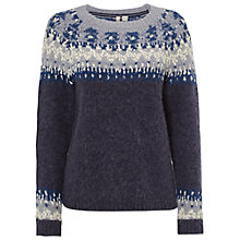 Buy White Stuff Frosty Yoke Jumper, Deep Dusky Blue Online at johnlewis.com
