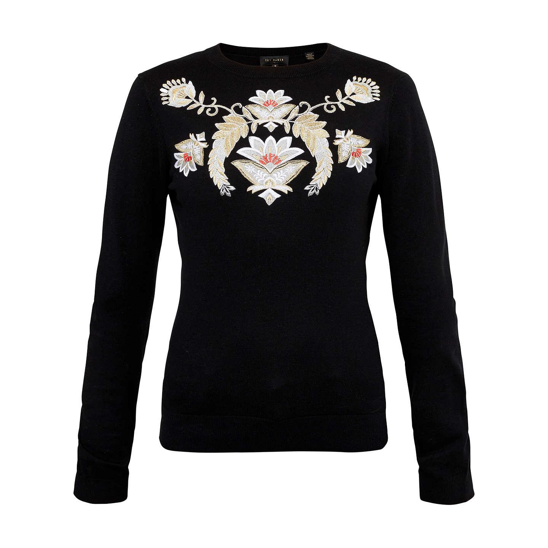 d5ed5fc0c5c463 BuyTed Baker Shani Opulent Orient Embroidered Jumper, Black, 0 Online at  johnlewis.com ...
