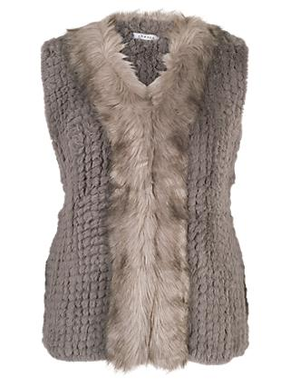 Chesca Faux Fur Gilet With Faux Fur Trim